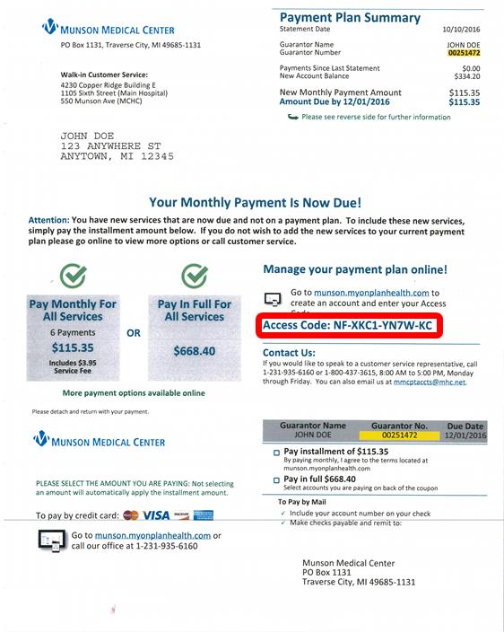 Bill Pay I Munson Healthcare I Northern Michigan