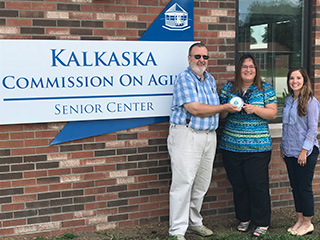 Staff from the Kalkaska County Commission on Aging receive their award